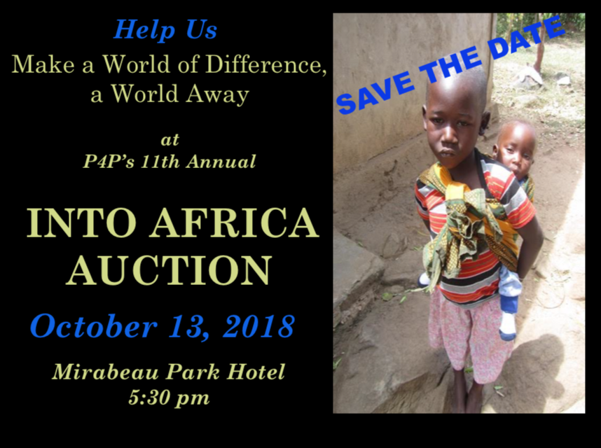 SAVE THE DATEInto Africa AuctionOctober 13, 2018