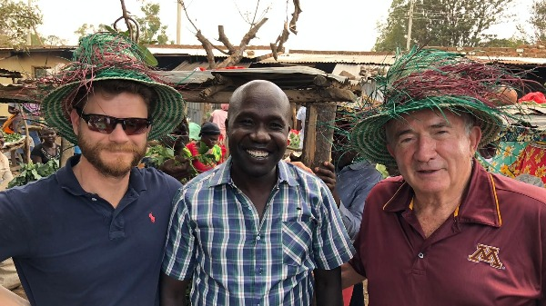 Market shopping for Dr. Brandon (L), Charles (center) and Dr. Chuck (R)