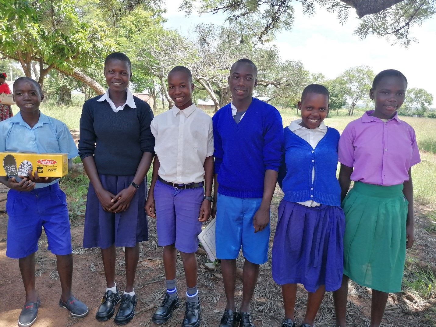 Six students gratefully received scholarships to attend high school thanks to YOU!