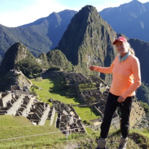Mary at Machu Picchu